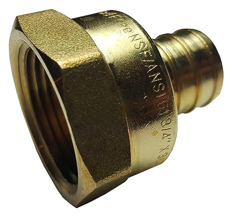 """10 3//4/"""" PEX Crimp x 3//4/"""" Female Threaded Lead-Free Brass Ball Valves Full Port"""