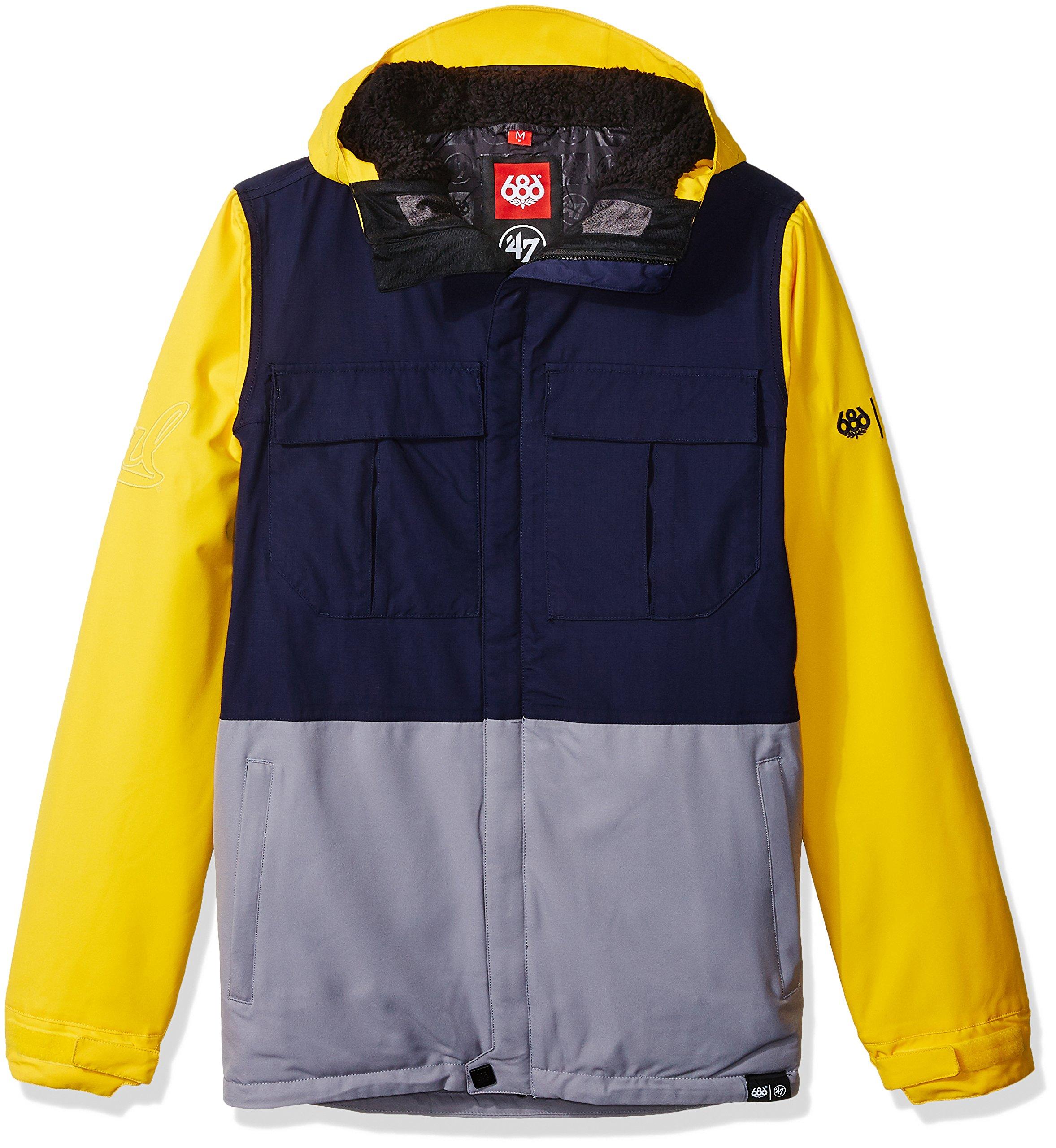 686x47 NCAA California Golden Bears Men's Victory Insulated Jacket, Small, Cal Blue