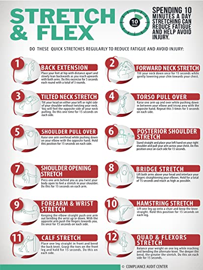 photograph regarding Stretching Charts Free Printable called : Extend and Flex 10 Instant Conditioning Poster for