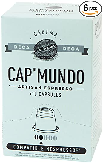 Cap Mundo Single-Cup Coffee for Nespresso Brewers, Dabema, 10 Count (Pack