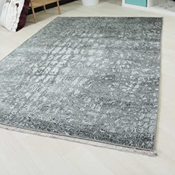 Moderner Vintage Teppich Mit Rutschfestem Rucken Rokoko Design In