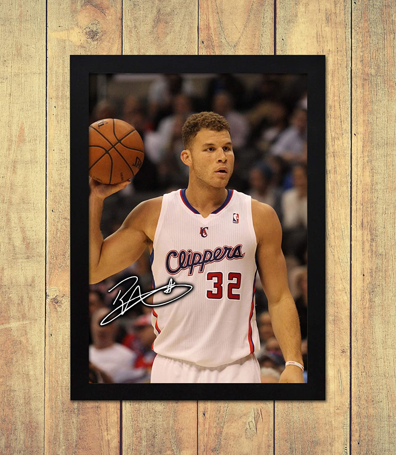 A4 Los Angeles Clippers High Gloss Personalised Printed Poster Star Prints Blake Griffin NBA 3 210 x 297 mm