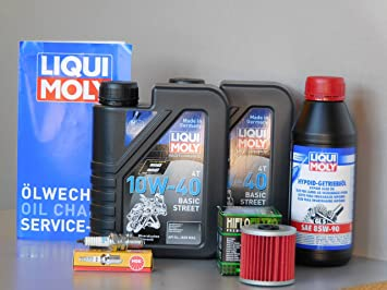 Kit de mantenimiento ATV Quad Kawasaki KLF 300 Bayou Inspección Aceite Bujía de aceite: Amazon.es: Coche y moto