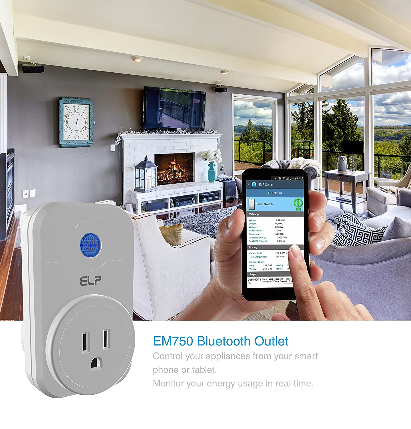 bluetooth 4 0 smart outlet with energy meter and home automation