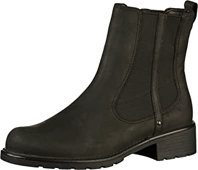 Clarks Orinoco Club Black or Brown Leather Womens Pull On Chelsea Boots