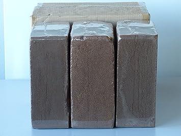 BaByliss 3 x 70 litros turba sin Fibra de Coco ladrillo de Coco Tierra para macetas máximo: Amazon.es: Jardín