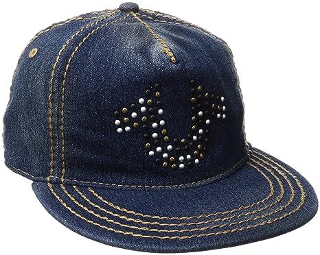 c2d88568 Amazon.com: True Religion Men's Denim Stud Horseshoe Cap, Indigo ...