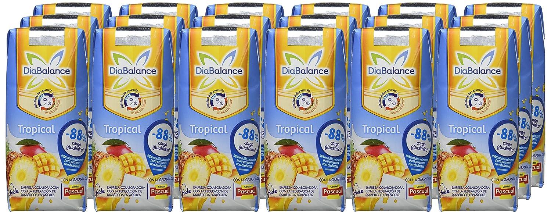 DiaBalance Zumo con Leche, Sabor Tropical - 18 Recipientes de 330 ml - Total: 5.94 l: Amazon.es: Alimentación y bebidas