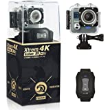 NeuTab Xtrem 4K Action Camera, Dual 2 Inch LCD Screen 16 MP Sony Image Sensor 170 Wide-Angle Lens Sports Camera 100 FT Waterproof Case and 2 Batteries included in Accessories Kit