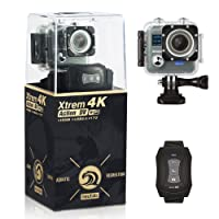 NeuTab Xtrem 4K Action Camera, Dual 2 Inch LCD Screen 16 MP Sony Image Sensor 170 Wide-Angle Lens Sports Camera 100 FT Waterproof Case and 2 Batteries included in Accessories Kit (Limited time offer)