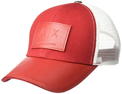 2607bf45eb1 Armani Exchange Men s Logo Patch Trucker Hat