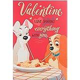"""Hallmark-Biglietto di San Valentino """"Lilli e il vagabondo disney-Medium"""