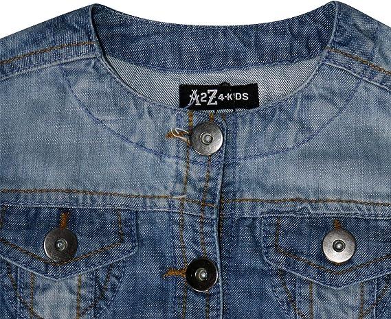 Kids Girls Jackets Designer Denim Style Fashion Blue Jeans Jacket Coats 3-13 Yrs