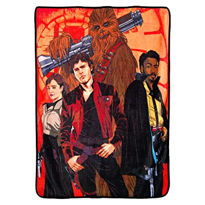 "Disney Star Wars Solo: A Story, ""Galactic Swag"" Micro Raschel Throw Blanket, 46"" x 60"", Multi Color: Home & Kitchen"