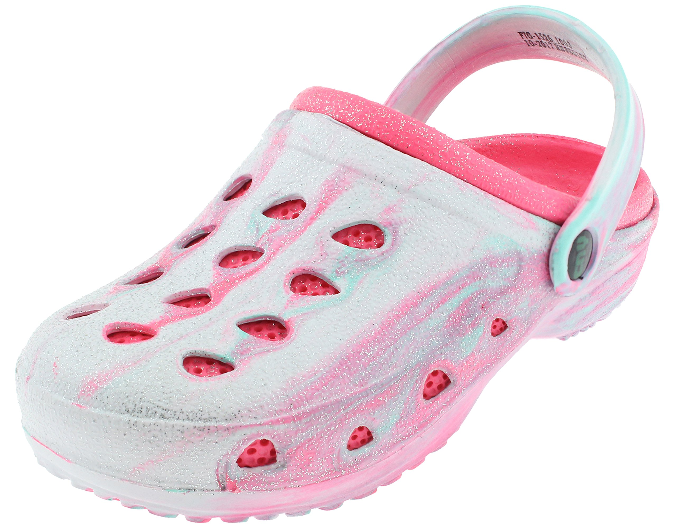 Capelli New York Girls Allover Glitter Tie Dye Clog and Backstrap Pink 1/2