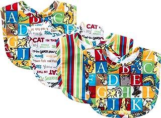 Trend Lab Dr. Seuss Alphabet Bouquet Bib Set, 4 Count