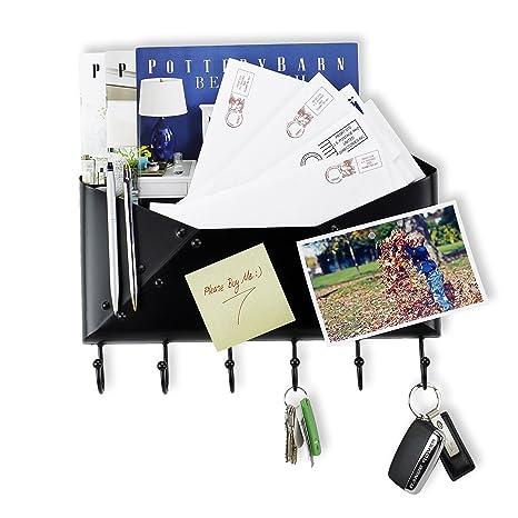 Amazon.com: Llavero para el recibidor, Negro: Office Products