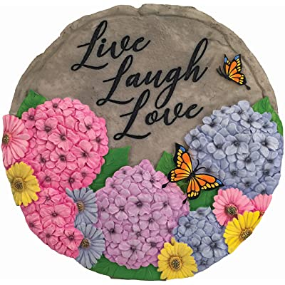 Spoontiques 13238 Live Laugh Love Stepping Stones, Multicolored : Garden & Outdoor