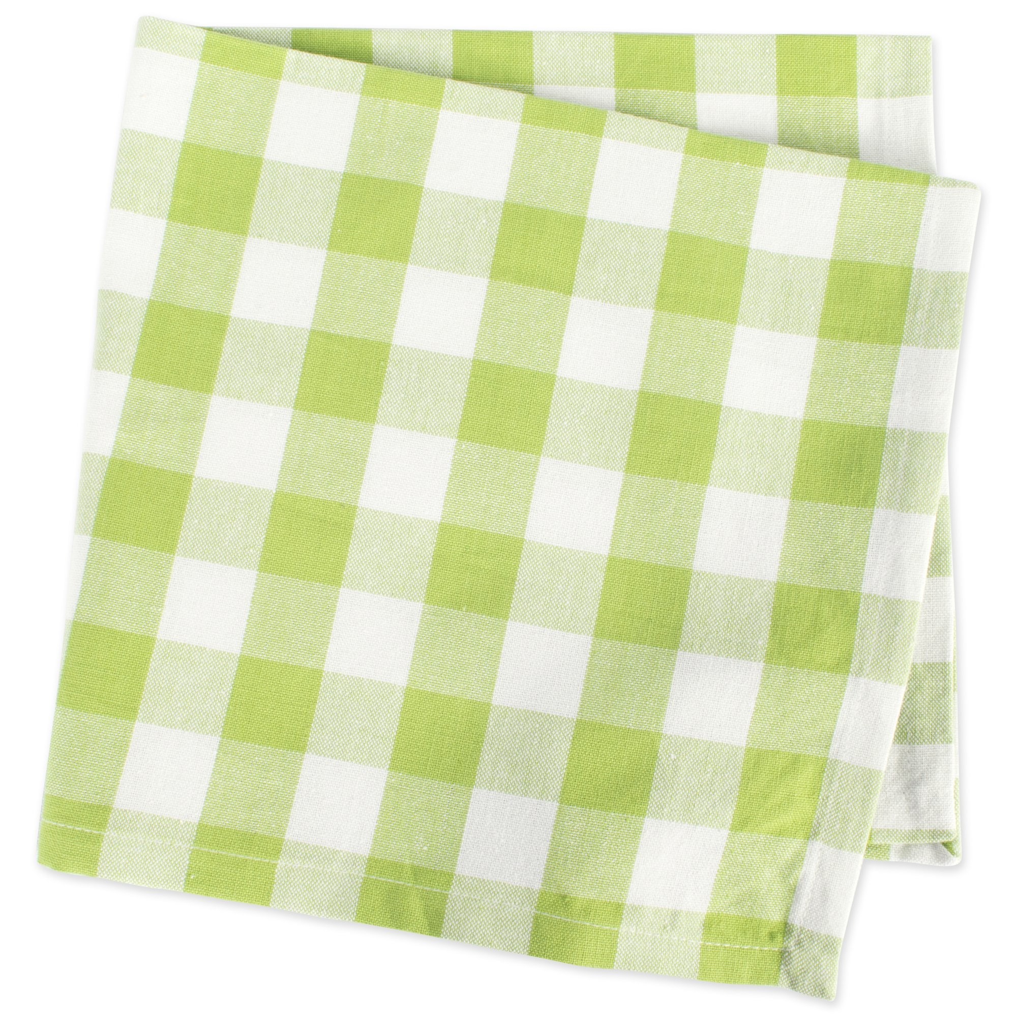 DII 100% Cotton, Oversized Basic Everyday 20x 20 Napkin, Set of 6, Green Apple Check by DII (Image #4)