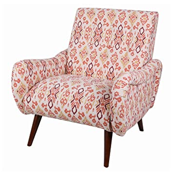 Bon New Pacific Direct 1900074 156 Joanne Tufted Arm Chair With Wenge Legs,  Sundried Ikat