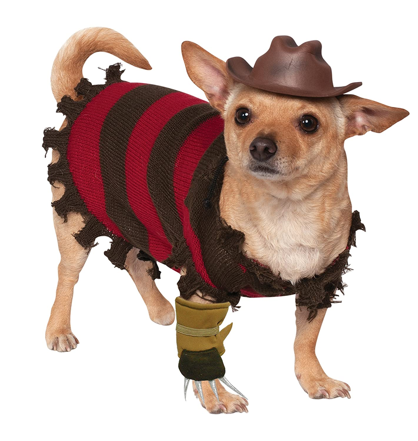 Rubies Costume Company A Nightmare on Elm Street Freddy Krueger Pet Costume Small 580052 S
