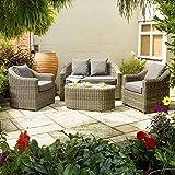 Rowlinson Rattan 4-Seater Bunbury Sofa Set - Natural