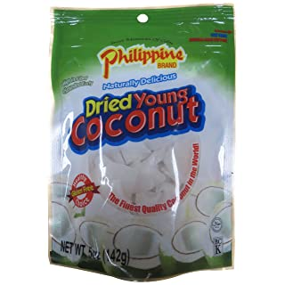 Philippine Brand Dried Young Coconut Snacks, 5 Ounce
