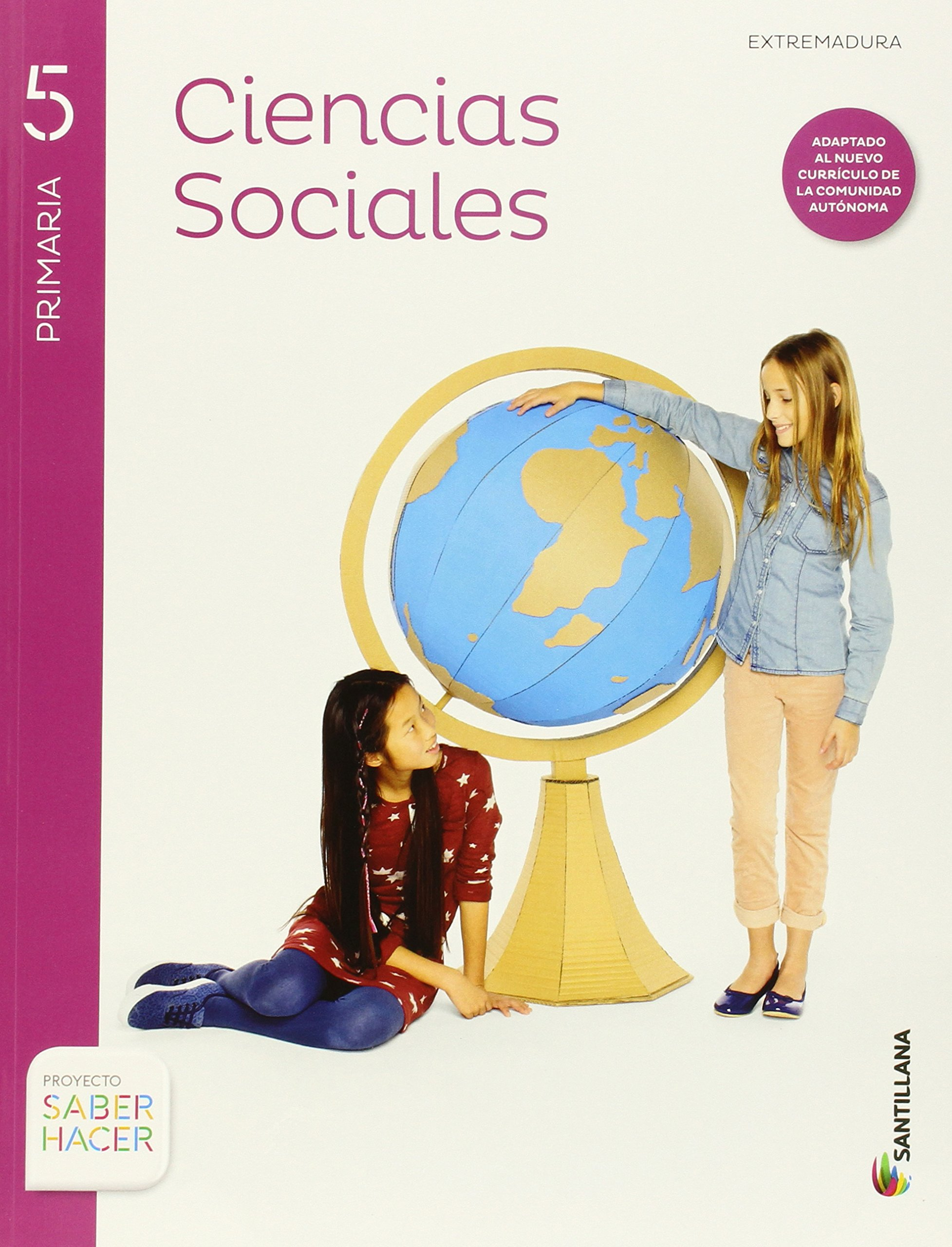 CIENCIAS SOCIALES + ATLAS EXTREMADURA 5 PRIMARIA SANTILLANA ...