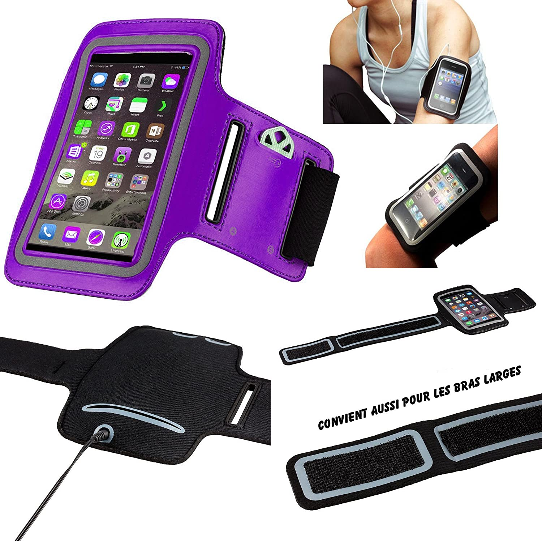 Activite Sportive MP-France Sony XA1 Ultra Brassard Sport Neoprene pour Telephone Portable Course A Pied Randonn/ée Running Scratch Reglable Smartphone Violet