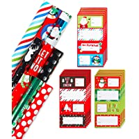 American Greetings Christmas Wrapping Paper Ensemble with Bows