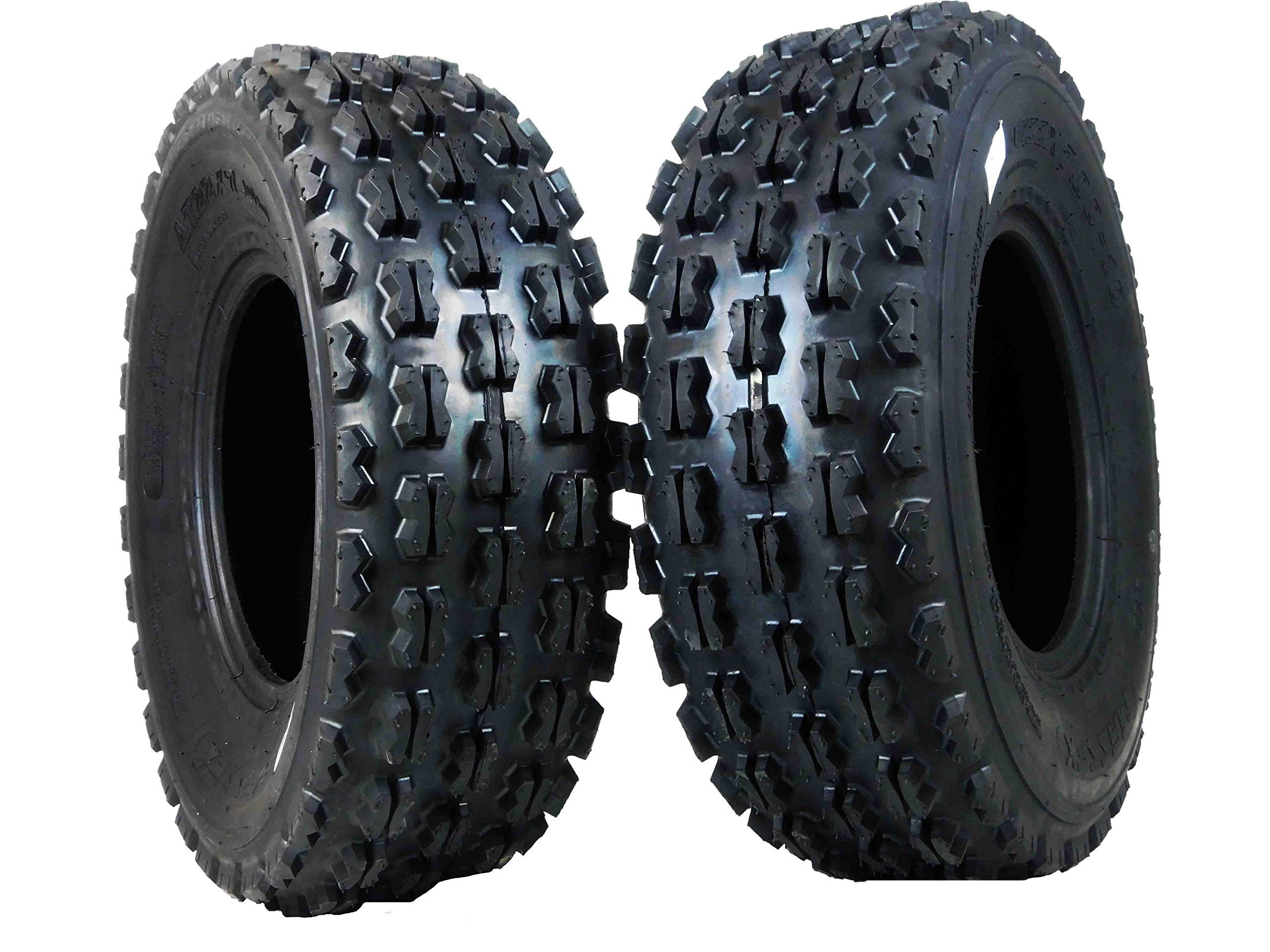 New MASSFX ATV Sport Quad Tires Two Front 22x7-10 4 Ply Tires For Yamaha Raptor Banshee Honda 400ex 450r 660 700 400 450 350 250 (Set of 2 Front 22x7-10)