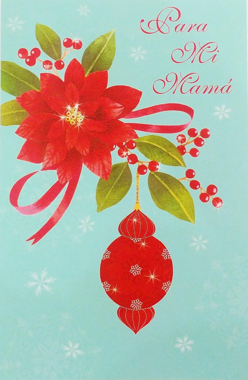Amazon Para Mi Mama Feliz Navidad Merry Christmas Greeting
