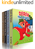 children boxed sets: Derek The Dragon  Series Collection: bedtime stories for kids ages 2-6