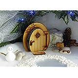 North Pole apertura Fairy Door. festive tridimensionale apertura fata porta in legno da assemblare Craft kit con zerbino, Sign & Key