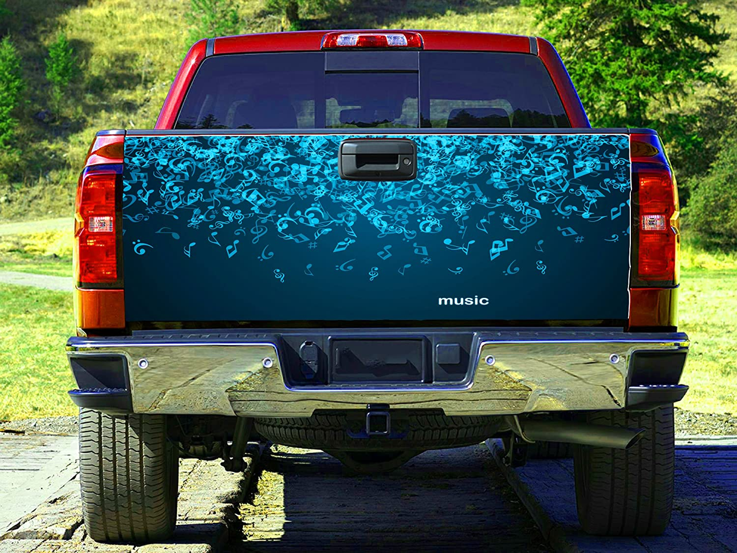 Amazon.com: Music Sheet music Notes Tailgate Wrap, Truck Decal ...