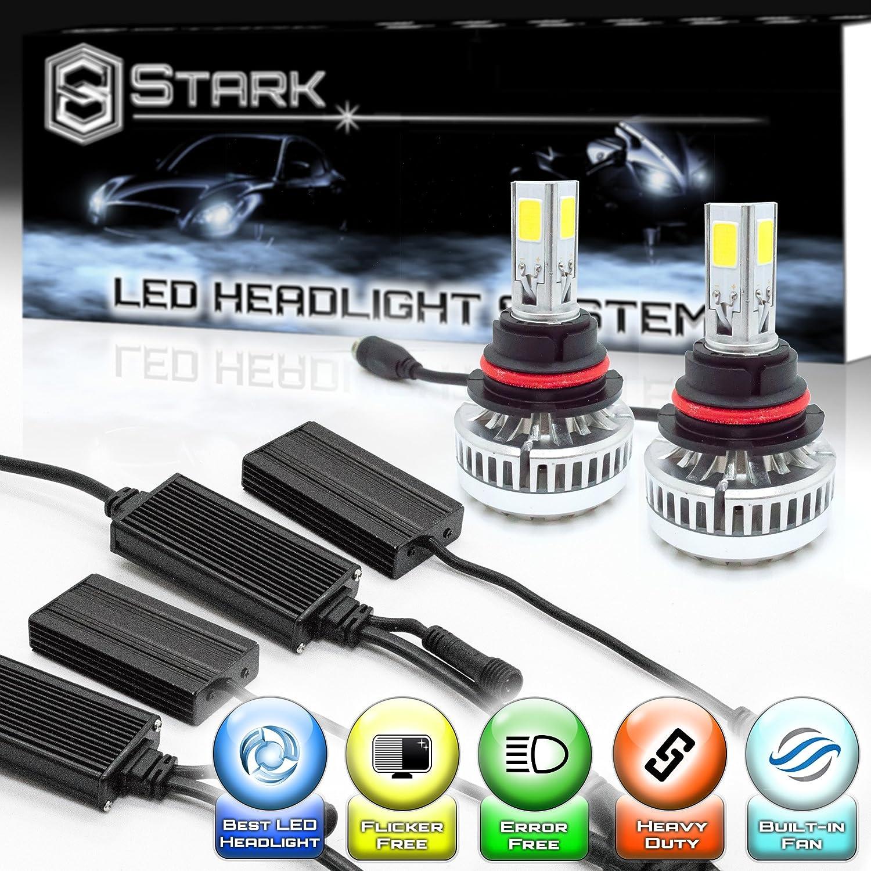 Stark 90W 9000LM LED Headlight Conversion Kit - Cool White 6000K 6K - Dual Hi / Lo Beam - 9004 / HB1 UNV inc