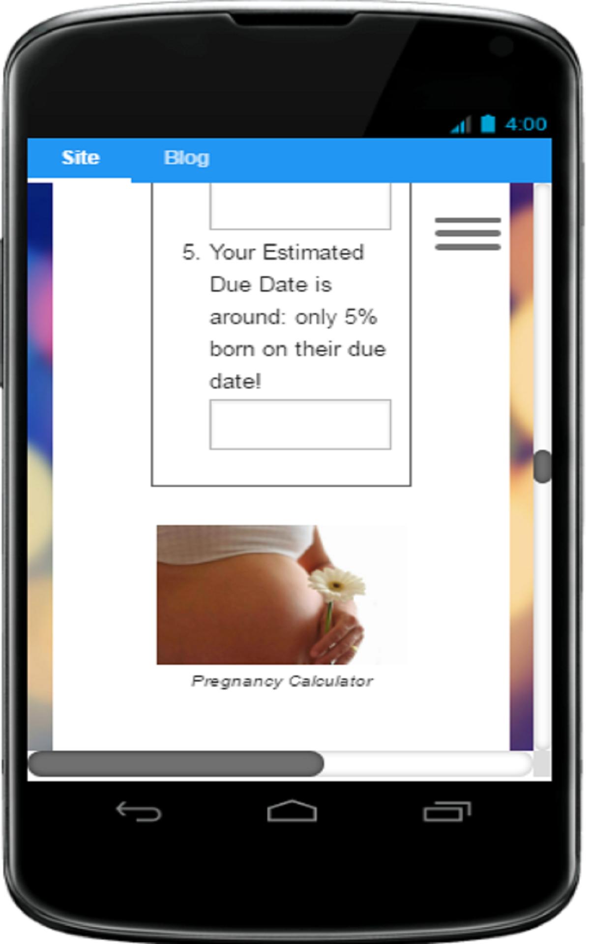 Pregnancy Week Calculator App, your pregnancy due date ...