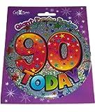 Happy 90th Birthday Giant Mega Party Badge - 90 Today