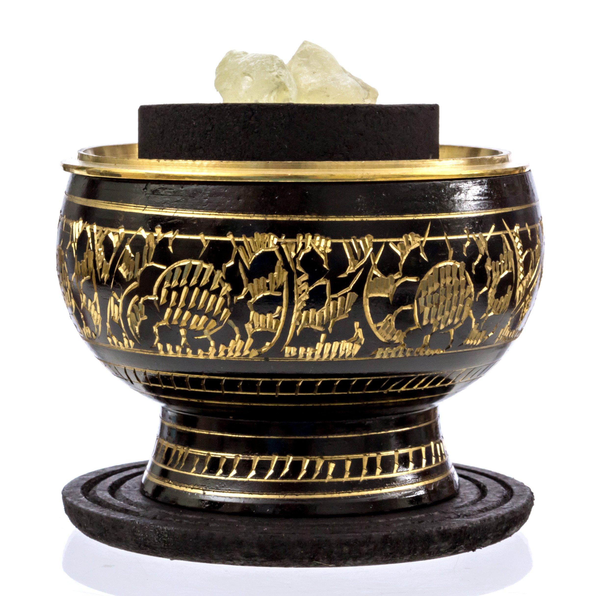 Alternative Imagination Premium Copal Burning Kit (with Tibetan Incense Burner or Brass Screen Burner) (Black Brass) by Alternative Imagination (Image #2)