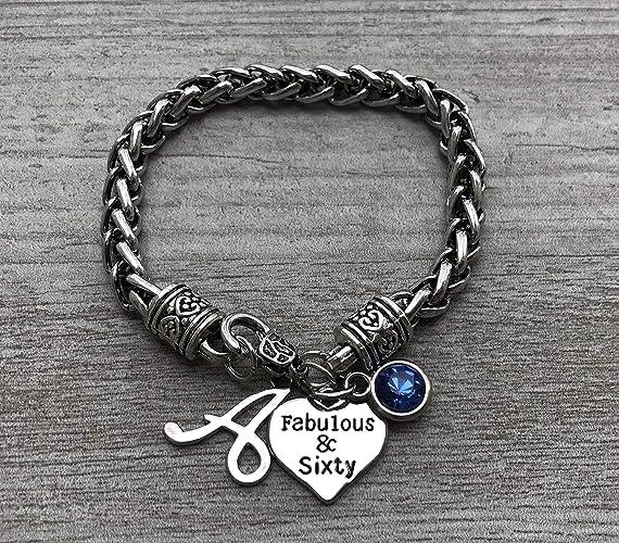 Amazon 60th Birthday Charm Bracelet With Birthstone Letter