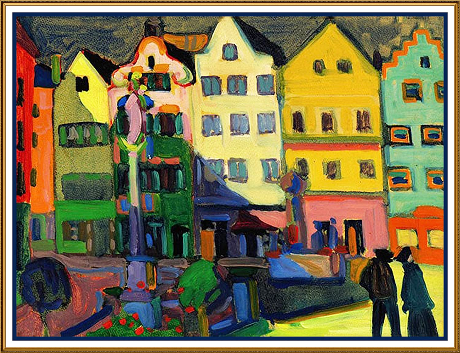 Orenco Originals The Bavarian Market Square Artist Wassily Kandinsky Counted Cross Stitch Pattern