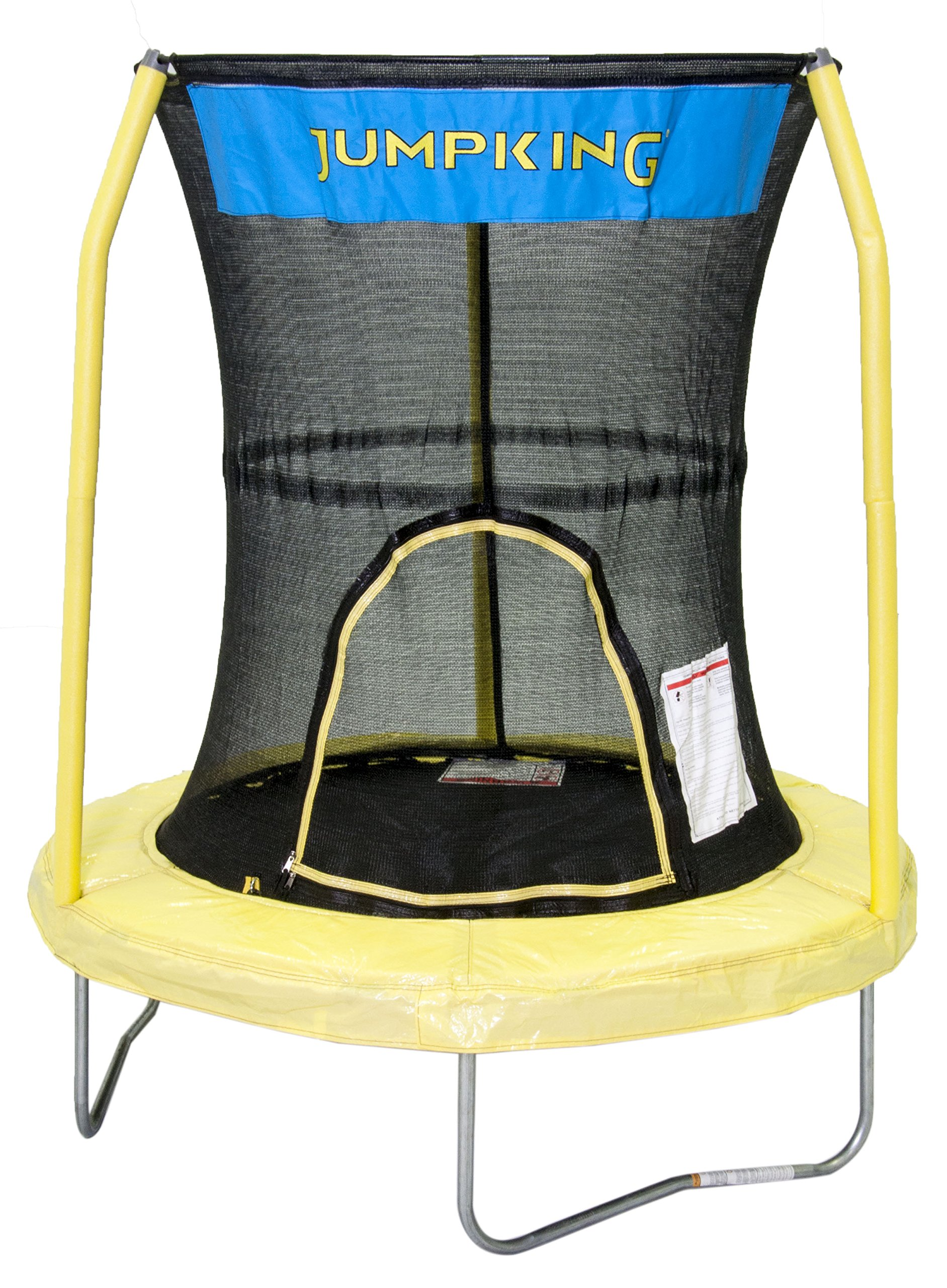 JumpKing Bazoongi Trampoline with 3 Poles Enclosure System, 55'' , Yellow
