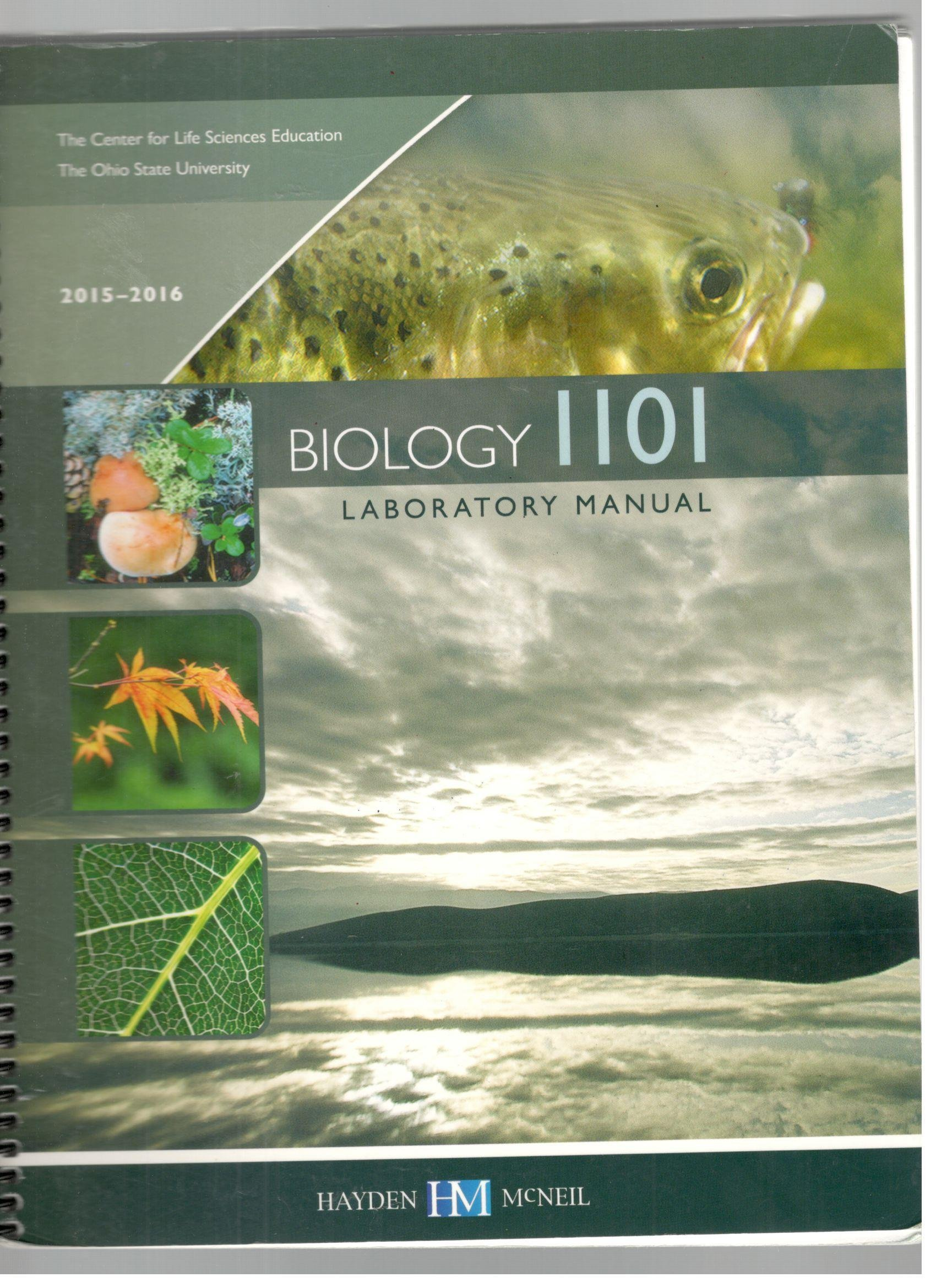 Biology 1101 Laboratory Manual, 2015-2016 The Ohio State University:  9780738074719: Amazon.com: Books