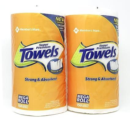 Amazon Com Member S Mark Super Premium Paper Towels 2 Rolls Each