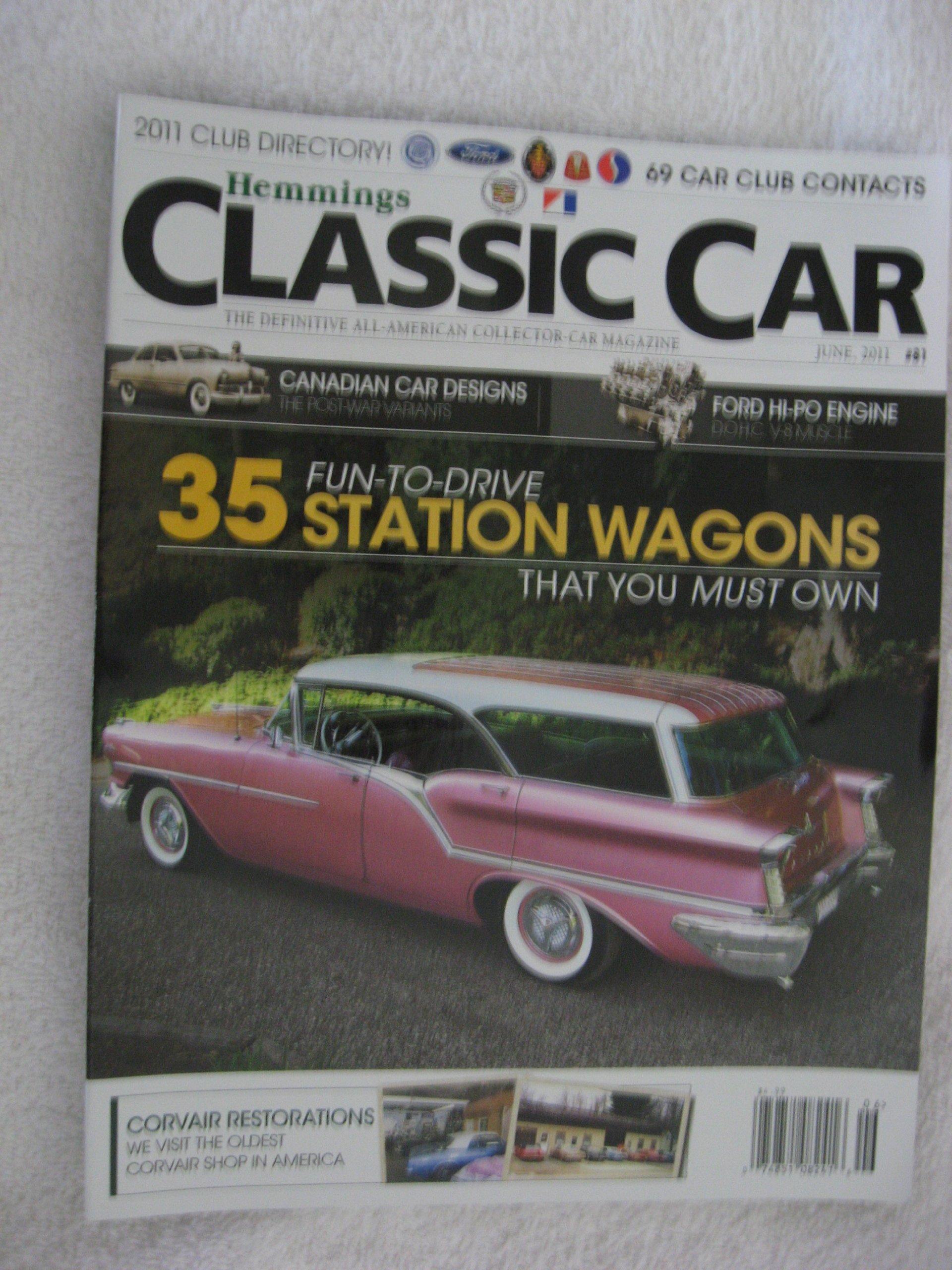 Hemmings Classic Car Magazine - June 2011 - 35 Fun-To-Drive Station ...