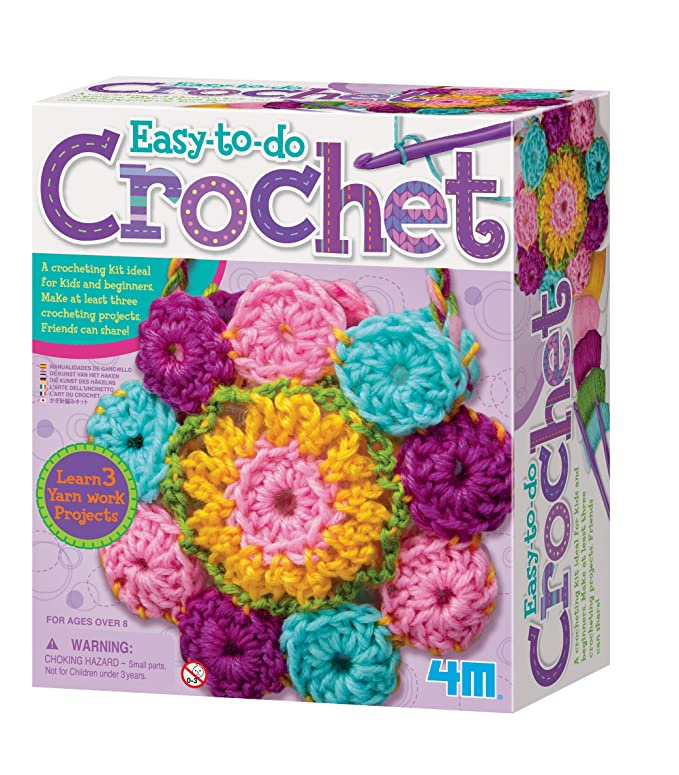 4M - Crochet Art, juego de creatividad (004M2737): Crochet Art: Amazon.es: Juguetes y juegos