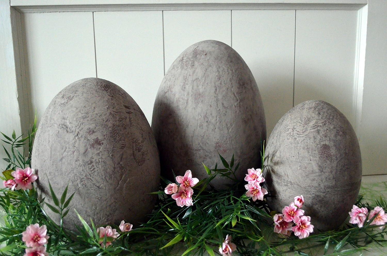 Osterei Aus Keramik Ostern Osterei Ei Gro Ss Ca 22cm Grau Braun Deko