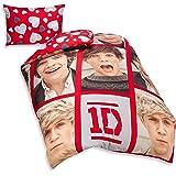"""Copri Piumone Copripiumino Singolo Reversibile One Direction """"Boyfriends"""" Nuova Grafica 2013/14 Merchandising Originale"""