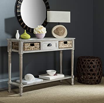 Stupendous Safavieh American Homes Collection Christa Winter Melody Console Table With Storage Gmtry Best Dining Table And Chair Ideas Images Gmtryco