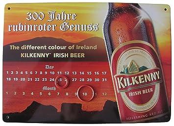 Unbekannt Kilkenny - Irish Beer 300 Jahre rubinroter Genuss - Endloskalender - Blechschild 21 x 15 cm